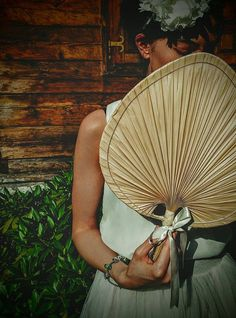 Wedding fan - palm leaves
