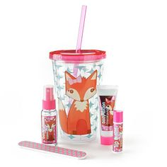 Repinned: Simple Pleasures 5-pc. Fox Reusable Cup Gift Set #Kohls #MothersDay #gift
