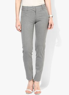 Buy Van Heusen Ivory Checked Chinos for Women Online India, Best Prices, Reviews | VA131WA03YDGINDFAS