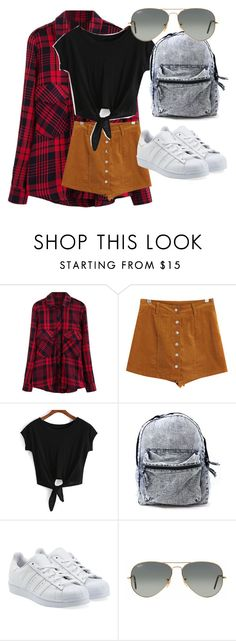 """clothing for MNB"" by kijannakap on Polyvore featuring Chicnova Fashion, adidas Originals and Ray-Ban"
