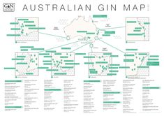 An Australian Gin map from Gin Foundry, Gin Mixers, Gin Quotes, Food Map, Craft Gin, Countries Of The World, Distillery, Infographic, Australia