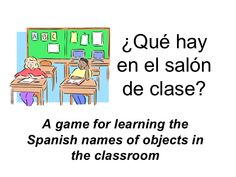 Classroom items game