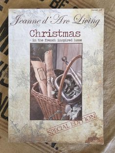 "Jeanne D' Arc Living ""Christmas in The French Inspired Home"" Special Edition 