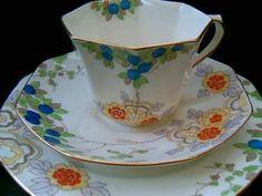 Royal Doulton Art Deco tea trio c1930