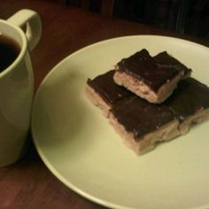 Pine Nut Shortbread with Salted Caramel and Chocolate Ganash