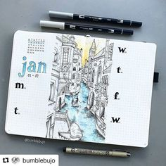 Me gusta, 65 comentarios - Kimmy (Bumblebujo - Bullet Journal Ideas, Art &. Bullet Journal Planner, Bullet Journal Themes, Bullet Journal Spread, Bullet Journal Layout, Bullet Journal Inspiration, Journal Ideas, Bullet Journals, Kalender Design, Weekly Spread