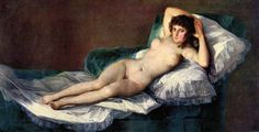 The naked Maja by Goya.  Order from DEKORAMI as a poster, canvas print, mural. Zamów jako obraz na płótnie, plakat lub fototapetę na DEKORAMI.pl