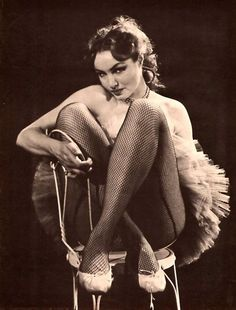 Julie Newmar. Fishnets. Perfection.
