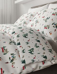 Shop this Christmas Eve Bedding Set at Marks & Spencer. Browse more styles at Marks & Spencer NZ Christmas Eve, Bedding Sets, Bed Pillows, Pillow Cases, Bedroom Ideas, Home, Style, Pillows, Swag