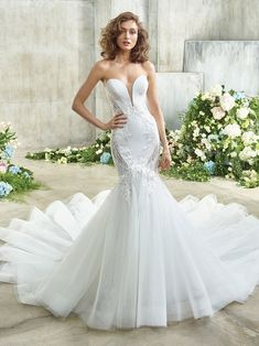 Erika Front Perfect Wedding Dress, Dream Wedding Dresses, Designer Wedding Dresses, Bridal Dresses, Girls Dresses, Bridesmaid Dresses, Wedding Gowns, Mermaid Gown, Mermaid Dresses