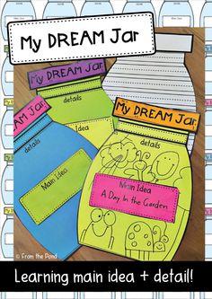 Dream Jar Writing Main Idea + Detail The BFG