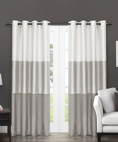 Loving this Dove Gray Chateau Stripe Curtain Panel - Set of Two on #zulily! #zulilyfinds