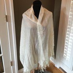 GORGEOUS CASHMERE SILK CREAM PASHMINA SCARF Stunning shawl scarf Accessories Scarves & Wraps