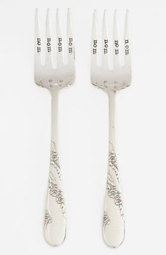 Milk and Honey Luxuries 'Nom Nom Nom Nom' Vintage Forks (Set of 2) available at #Nordstrom