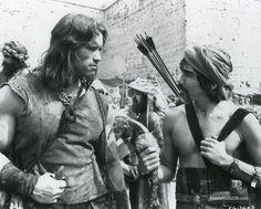 Conan The Barbarian - Publicity still of Arnold Schwarzenegger & Gerry Lopez