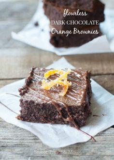 Flourless Dark Chocolate Orange Brownies - I'm gonna try this w coconut sugar
