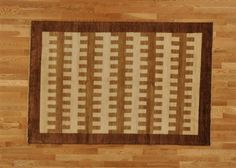 Hand Knotted Awesome Camel & Honey Brown Modern Gabbeh Area Rug (5'5'' x 8') via 1800 Get A Rug