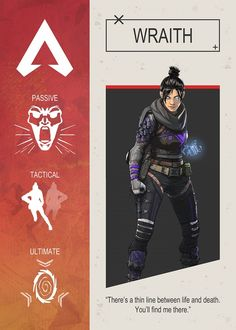 Apex Legends Wraith by Gemini Phoenix Cartoon Network, Video Game Posters, Video Games, Nintendo, The Revenant, Bloodhound, Gaming Wallpapers, Life And Death, 3d Character