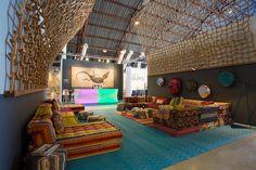Roche Bobois at the WestEdge design fair in Santa Monica, California | Mah Jong modular sofa designed by Hans Hopfer | November 2016