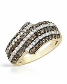 Yellow Gold Ring with 1.30 CTW Diamonds $409.00 #PrivateLabel