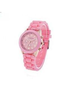 Huismerk Silicone Horloge Roze