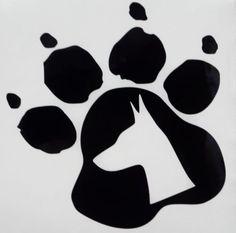 Doberman Dog Pet Paw Print Car Truck Window Vinyl Decal Sticker 12 COLORS #VinylDecalSticker