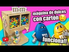 COMO HACER UNA MÁQUINA DE DULCES CON CARTÓN|Manualidades Reciclaje|DIY - YouTube