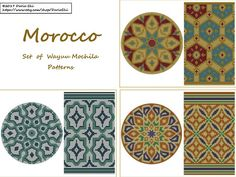 MOROCCO - Set of Wayuu Mochila Patterns DIGITAL PATTERNS! Colors: 3-4 SIZE: Bottom: - 30 rows - 240 stitches Side: - 70 rows - 240 stitches Each Pattern included: - 1 round color block chart; - 1 horizontal color block chart. PDF pattern available for instant download. Copyright ©2017