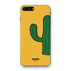 Simple Cactus Cartoon Printed iPhone Mobile Phone Case ($19) ❤ liked on Polyvore featuring accessories, tech accessories and comic book