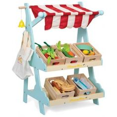Le Toy Van Honeybee Wooden Market Stall - Silly Milly Moo
