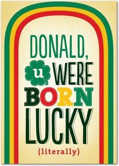 Literally Lucky - St Patricks Day Cards in Polenta | Magnolia Press