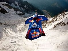 Wingsuit flying is the sport of flying the human body through the air using a special jumpsuit, called a wingsuit.