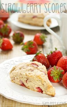 Strawberry Scones | From: sweetpeaskitchen.com