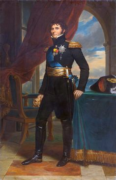 Portrait of Charles XIV John as Crown Prince of Sweden 1811 by François Gérard (French 1770 – 1837)