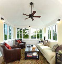 Cheap Sun Room Design Ideas, Pictures, Remodel, and Decor - page 3--@Christi Ray  I totally see your sun room like this one day!