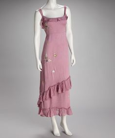 Take a look at this Lavender Embroidered Dress by Get Gorgeous: Women's Apparel on #zulily today!