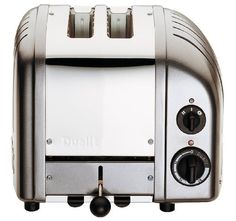 Metallic silver and polished chrome give this Dualit 27162 2 Slice NewGen Toaster - Metallic Silver its futuristic vibe. This compact two-slice toaster. Small Appliances, Kitchen Appliances, Kitchens, Dualit Toaster, Retro Toaster, Hgtv Magazine, Slot, Kitchen Design, Household