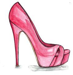 Dream shoes that make spring- Scarpe da sogno che fanno primavera Casadei patent peep toe - Fashion Mode, Fashion Art, Trendy Fashion, Fashion Shoes, Fashion Ideas, Fashion Illustration Shoes, Illustration Mode, Illustrations, Fashion Design Drawings
