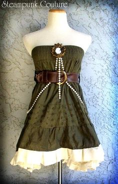 Lovely short dress fron Steampunk Couture