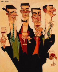 The Wine Tasters ~ Clifford Bailey