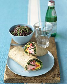 Bring out leftover or store-bought roast beef and wrap up dinner plans. The meat is rolled with mango, pepper, and onion for a light meal that tastes of the tropics