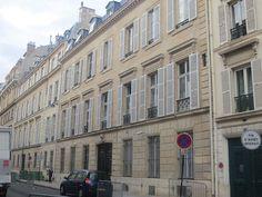 Hôtel Delaforest dit hôtel Lebel (1843-1845) 13, rue Vaneau Paris 75007. Architecte : Hippolyte Destailleur.