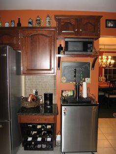 Kitchen Island Kegerator butler pantry with kegerator | 1151 ashland drive columbia