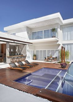 Residência Santa Monica Jardins VL : Casas modernas por ANGELA MEZA ARQUITETURA & INTERIORES