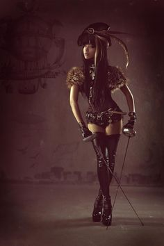 Hottest Alluring Steampunk & Goth Babes Compilation of The Grizzled Monarch because they are the hottest treat or prepare in a certain way, in particular according The Grizzled Monarch Expert in the Feminine Body Structure Steampunk Mode, Corset Steampunk, Costume Steampunk, Steampunk Accessoires, Style Steampunk, Steampunk Couture, Steampunk Clothing, Steampunk Fashion, Steampunk Pirate