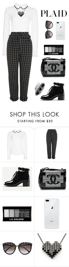 """Untitled #2373"" by ebramos ❤ liked on Polyvore featuring Hobbs, Topshop, Chanel and Palm Beach Jewelry"