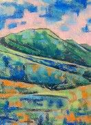 Image result for Colorful Abstract Mountain Paintings