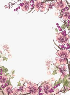 Ink purple flowers border background PNG and Clipart Purple Flowers Wallpaper, Flower Background Wallpaper, Flower Backgrounds, Flower Wallpaper, Wallpaper Backgrounds, Floral Watercolor Background, Wallpapers, Borders And Frames, Floral Border
