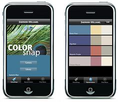 Color Capture & ColorSnap: Two apps from Benjamin Moore and Sherwin Williams - take a photo, get the paint colors in it.