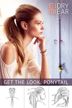 Get the look: Ponytail  Discover the ponytail of your dreams using EIMI Dry Me and Stay Firm. Visit a Wella salon to achieve this look.